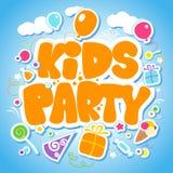 projekta dzieciaków partyjny szablon Obraz Royalty Free