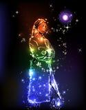 projekta dziewczyny światło Zdjęcia Royalty Free