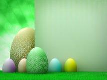 projekta Easter jajek szablon royalty ilustracja