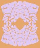 Projekta egzot Ornamentuje Złocistego rocznika Zdjęcia Royalty Free