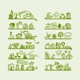 projekta ekologii ikony odkładają twój Fotografia Stock