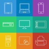 projekta elektronika ikon ilustraci wektor ty Zdjęcie Royalty Free