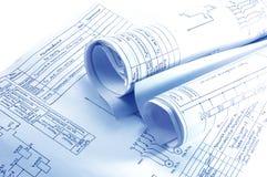 projekta elektryczności inżynierii odosobnione rolki Zdjęcie Stock