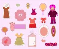 projekta elementów dziewczyny scrapbook set Obrazy Royalty Free