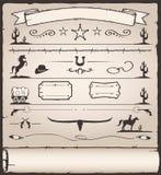 Projekta Elementów Dziki Zachód royalty ilustracja