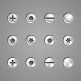 projekta elementów ilustraci nitów śruby vector twój Obraz Royalty Free