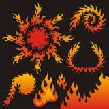 projekta elementów płomień ilustracji