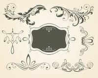 projekta elementów ramowy ślimacznic rocznik royalty ilustracja