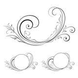 Projekta element swirls-14 Zdjęcie Stock