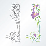 projekta elementu kwiat Ilustracja Wektor