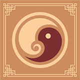 projekta elementu Oriental deseniowy Yang yin Obraz Royalty Free