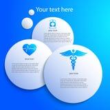 Projekta elementu szablonu prezentaci manuału medycyna Fotografia Royalty Free