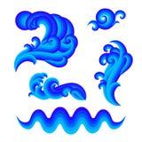 projekta elementy ustawiająca woda ilustracja wektor