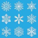projekta elementy ustawiający płatek śniegu vector twój Eleganccy płatki śniegu dla Fotografia Stock