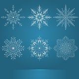 projekta elementy ustawiający płatek śniegu vector twój Eleganccy płatki śniegu dla bożych narodzeń i nowego roku projekta Obrazy Stock
