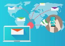 Projekta emaila Marketingowy pojęcie ilustracji