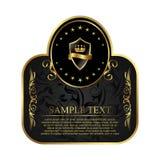 projekta etykietki kocowanie królewski Obraz Stock