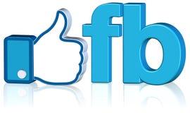 projekta facebook lubi Zdjęcia Royalty Free
