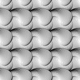 Projekta falowania bezszwowy monochromatyczny wzór Fotografia Royalty Free