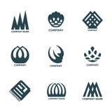 Projekta geometryczny logo dla firma setu Obraz Royalty Free