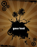 projekta grunge drzewko palmowe Zdjęcia Stock