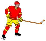 projekta hokeja lodu ilustracyjny gracz ty Zdjęcia Stock