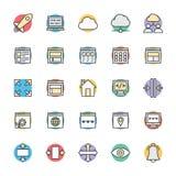 Projekta i rozwoju Chłodno Wektorowe ikony 2 ilustracja wektor