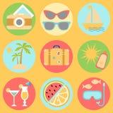 projekta ikon ilustraci wakacje ty Obrazy Royalty Free