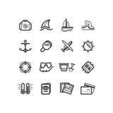 projekta ikon ilustraci wakacje ty przycinający cyfrowych dróg ikon zawierać ilustracyjnego zadrapanie podróżuje Wakacje ikony Zdjęcie Stock