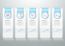 Projekta infographic szablon może używać dla obieg układu, diagram royalty ilustracja