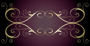 projekta jpg kwiecisty złoty Zdjęcie Royalty Free