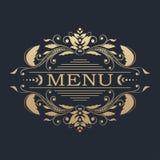 projekta kaligraficzny element Złoty menu Fotografia Royalty Free