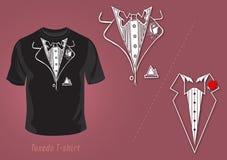 projekta koszulowy t smokingu wektor ilustracji