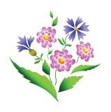 projekta kwiatów wektor Obrazy Royalty Free