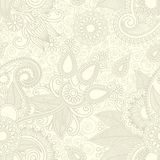 projekta kwiat Paisley bezszwowy Obrazy Royalty Free