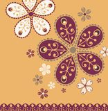 projekta kwiatu rocznik Zdjęcie Royalty Free