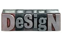 projekta letterpress Zdjęcie Royalty Free
