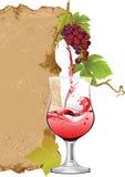 projekta listy wino royalty ilustracja