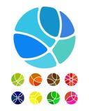 Projekta loga abstrakcjonistyczny round element Obrazy Stock
