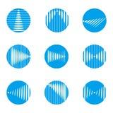Projekta loga falowy round wektorowy szablon Obrazy Stock