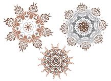 projekta mandala royalty ilustracja