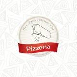 projekta menu pizzeria Zdjęcie Stock