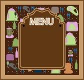 projekta menu restauraci wektor Zdjęcie Stock