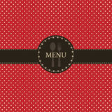projekta menu restauracja Obrazy Royalty Free