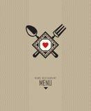 projekta menu restauracja ilustracji
