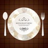 projekta menu restauracja Zdjęcie Stock