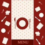 projekta menu szablon Obraz Royalty Free