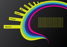 projekta miejsca szablonu sieć ilustracja wektor