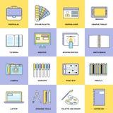 Projekta mieszkania linii ikony ilustracji