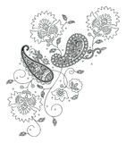 projekta mody henna Kashmir royalty ilustracja